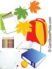 Set of school accessories