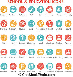 Set of school and education icons - Large set of 40...