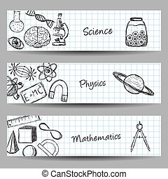 Set of Science Banners
