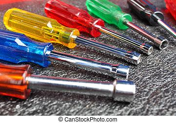 Set of screwdrivers, Socket wrench