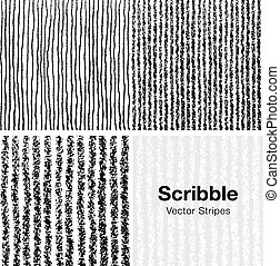Set of Scribble Lines Patterns Hand Drawn in Pencil, Vector ...