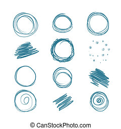 Set of scribbles for your design