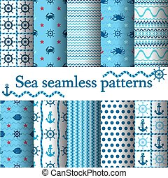 set of sea seamless