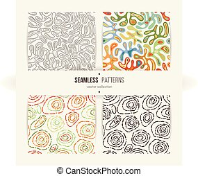 Set of seamless abstract patterns.