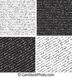 Set of Seamless abstract text pattern.
