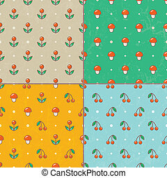 Set of seamless baby patterns. Vector EPS10.