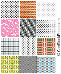 Set of seamless backgrounds. Vector