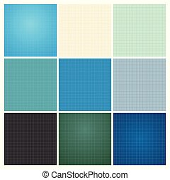 Set of seamless blueprint background