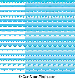 Set of seamless border patterns