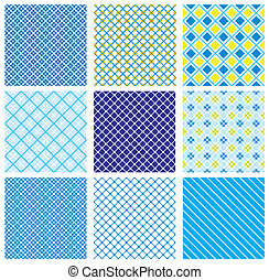 set of seamless checked patterns