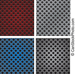 set of seamless circle perforated carbon speaker grill texture v