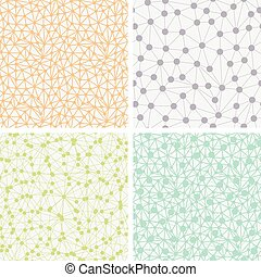 Set of Seamless Dotted Backgrounds