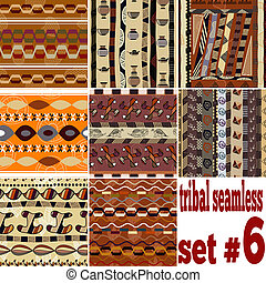 Set of seamless ethnic textures