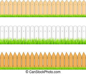 Set of seamless fences, vector eps10 illustration