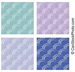 Set of seamless fine circle patterns. Circle flaky patterns ...