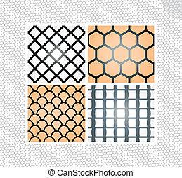 Set of seamless lace patterns