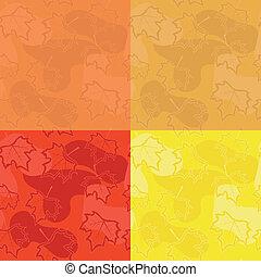 set of seamless maple patterns