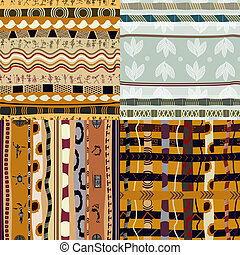 Set of seamless of African