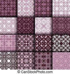 Set of seamless  ornamental pattern