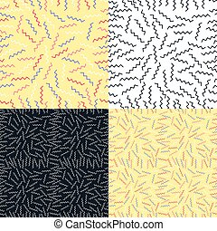 Set of seamless pattern background with geometric shapes. Minimal vintage design