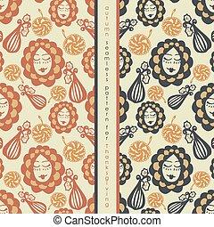 set of seamless pattern on thanksgiving