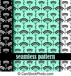 set of seamless pattern. vector.