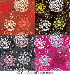 Set of Seamless patterns - floral
