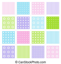 Set of seamless patterns - Seamless patterns