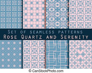 Set of seamless patterns. Vector