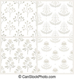 Set of seamless patterns with Australian flora