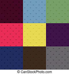 set of seamless polka dot patterns