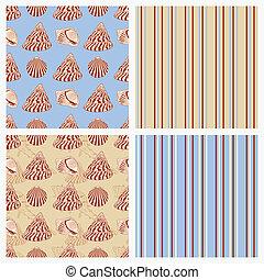 Set of seamless sea vector paper.