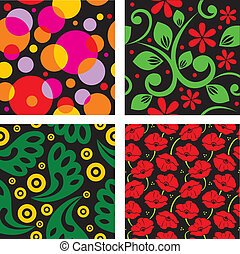 Set of seamless vector patterns