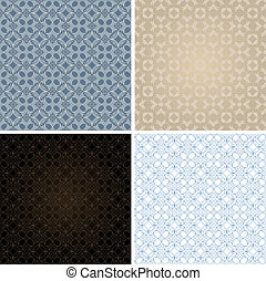 set of seamless vintage patterns