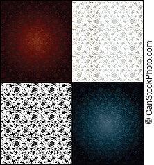 Set of seamless wallpaper pattern. Vector