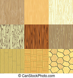 Set of seamless wood generated textures