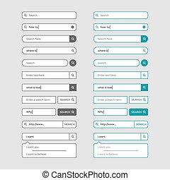 set of search bar design elements. vector illustration