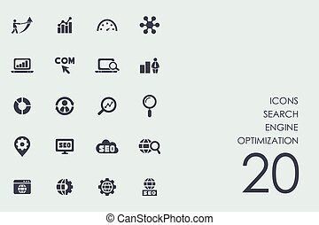 Set of search engine optimization icons