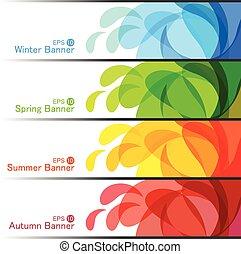Set of Season Banners