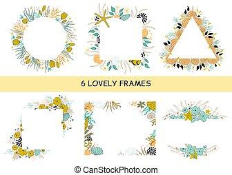 Set of seaweed frames