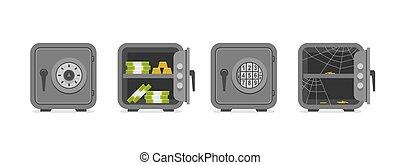 Set of security metal safes