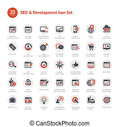 Set of SEO and Development icons - Set of business icons for...