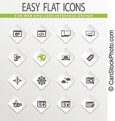 Set of SEO and Development icons set