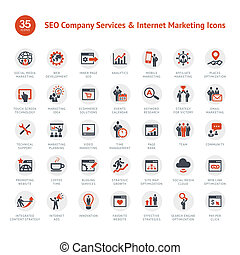 Set of business icons for SEO and Marketing