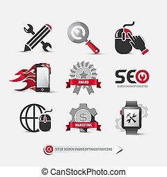 set of seo icons
