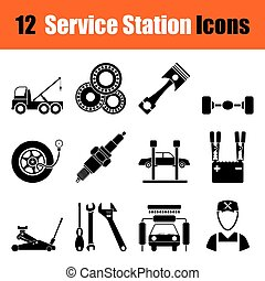 Set of Service station icons