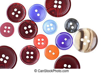Set of sewing buttons macro