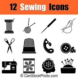 Set of sewing  icons