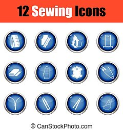 Set of sewing icons.