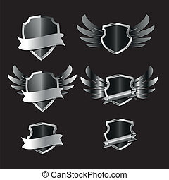 shield - set of shield, vector illustration